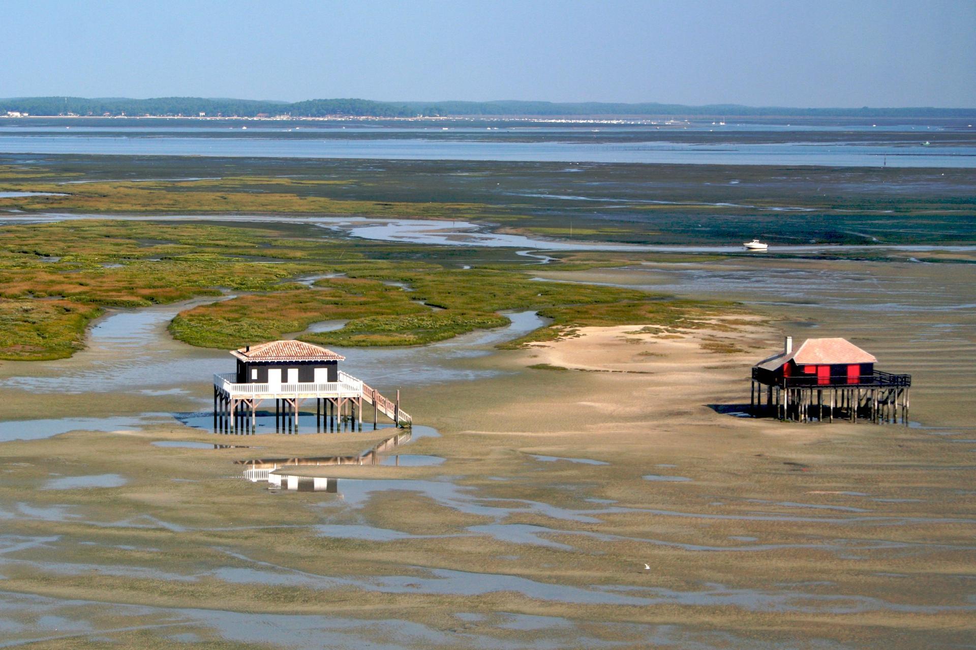 Cabanes de pêcheurs dans le bassin d'Arcachon