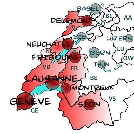 Carte suisse romande