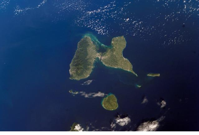 Guadeloupe from iss