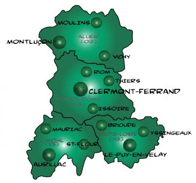 Map auvergne