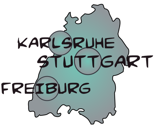 Map bade wurtemberg 1