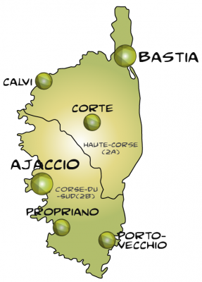 Map corse