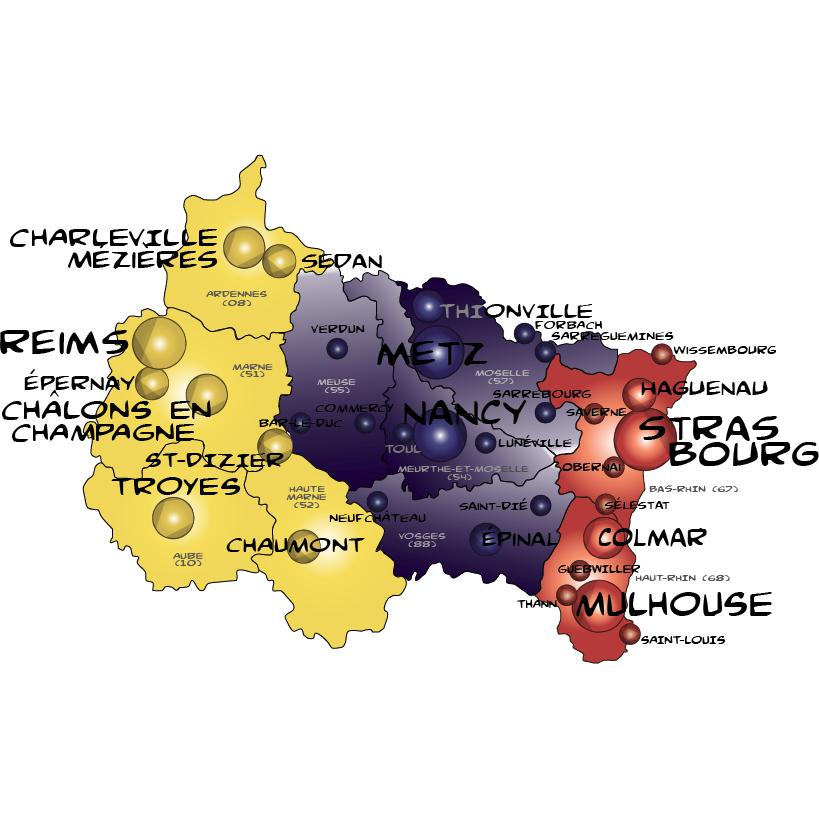Map grand est