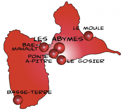 Map guadeloupe