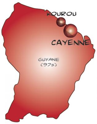 Map guyane