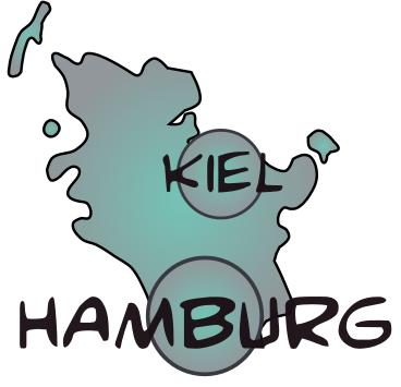 Map hamburg schleswig holstein 1
