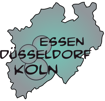 Map nordrhein westfalen