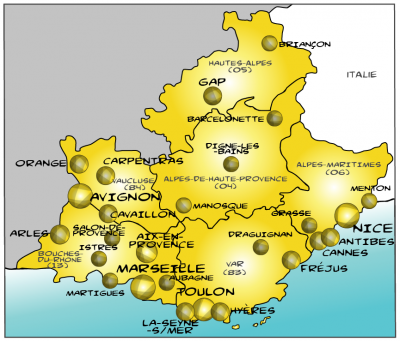 Map paca