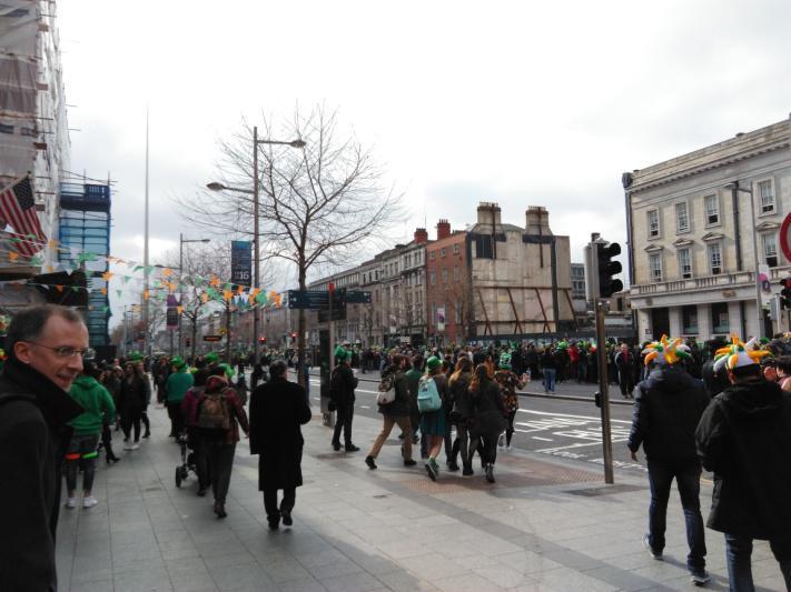 O' Connel Street lors de la St Patrick