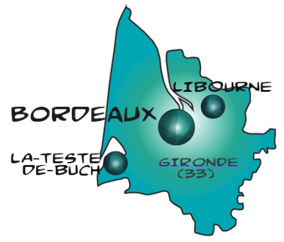 Map bordeaux in gironde