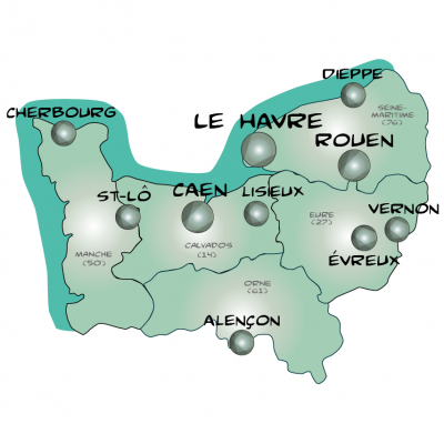 Map normandie