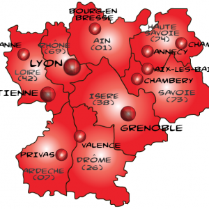 Map rhone alpes