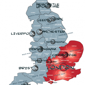 Map south east england